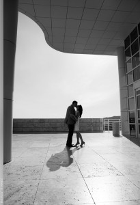 Getty Museum Engagement Session Photographer