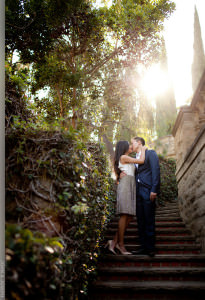 Engagement session at the Greystone Mansion in Beverly Hills.