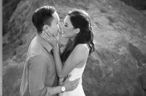 Beach Engagement session in Malibu Point Dume Beach by wedding photographer John and Joseph Photography