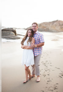 Magi and Justin's engagement session at the Laguna Beach, California