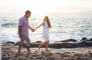 Magi and Justin's engagement session at the Laguna Beach, California