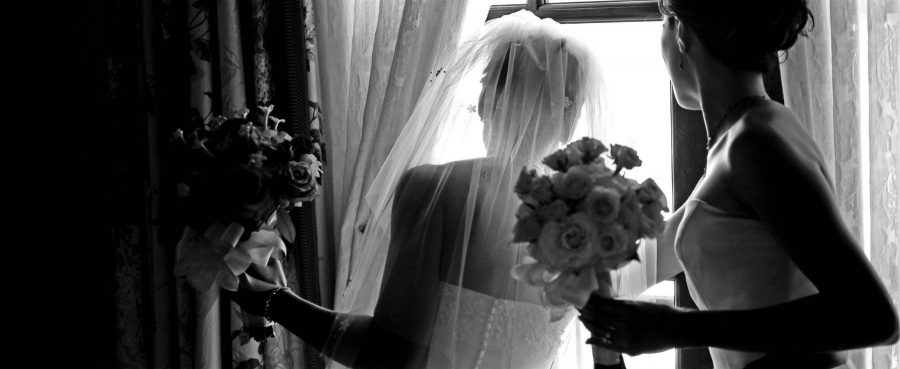 Wedding photogrphed using Hasselblad Xpan Panoramic Camera with Kodak Tri-X film.