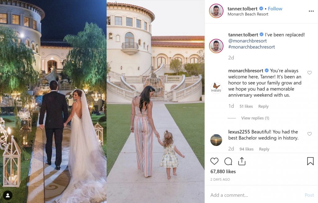 The Bachelor in Paradise's Tanner Tolbert's photo from his wedding day to today.