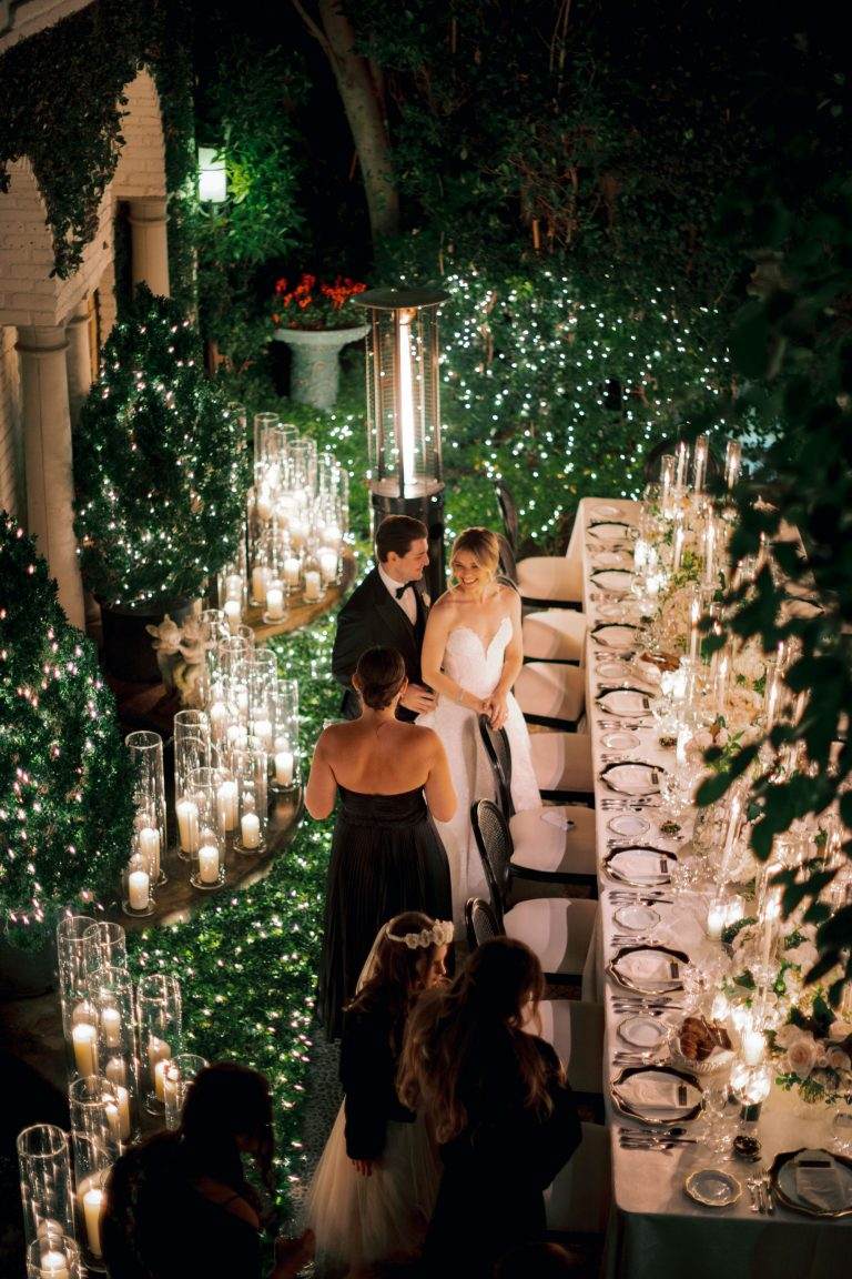 Romantic Candle Lit Reception in Beverly Hills