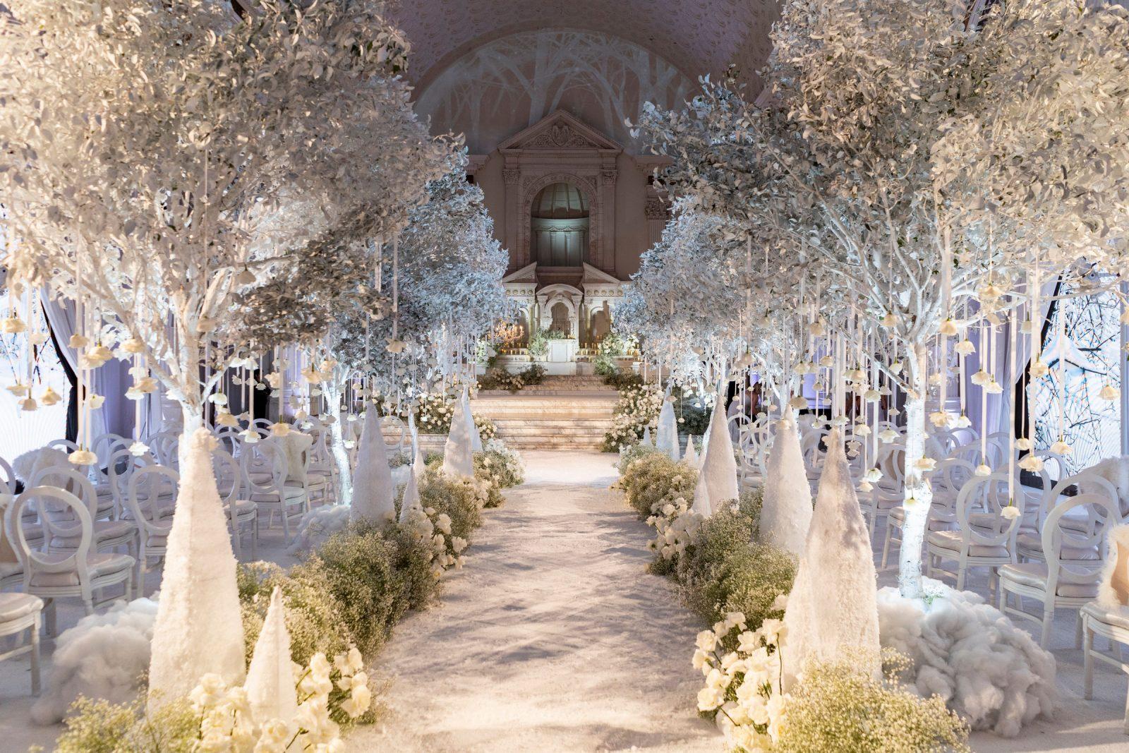 Selling Sunset's Christine Quinn's Gothic Winter Wonderland Wedding