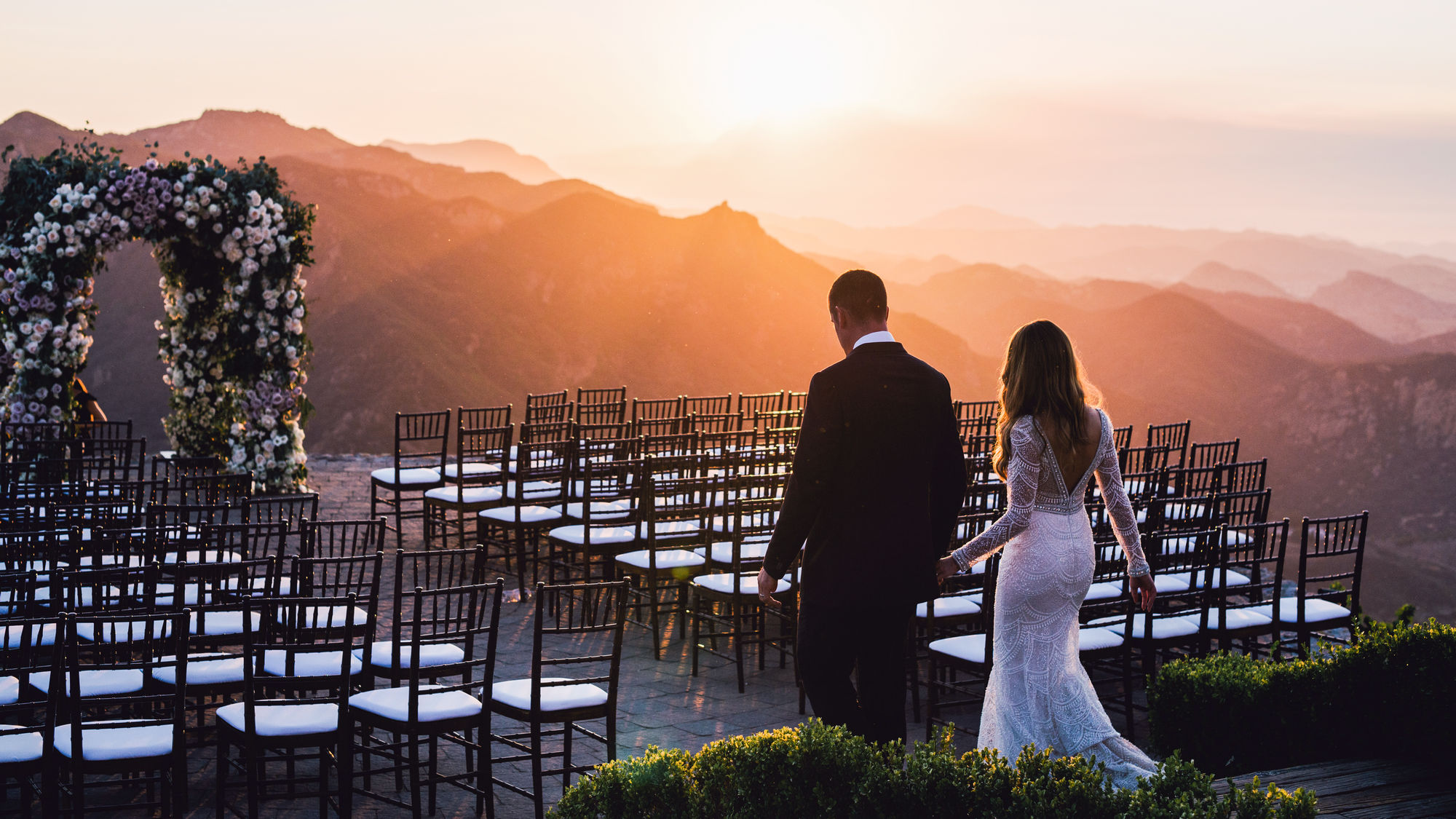 wedding malibu rocky oaks estate vineyards, malibu, california